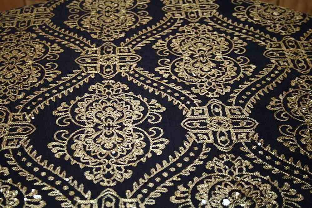GLITTER / GOLD BLACK / 100% Polyester