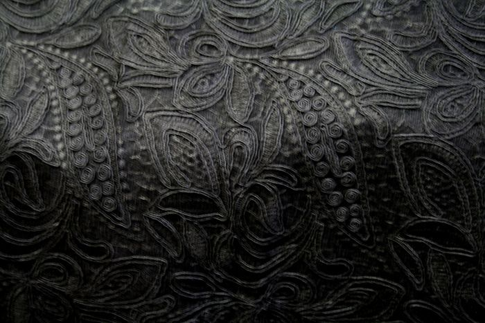 CREATION BLACK EMBROIDERD SHEERS LACES BEST SELLERS