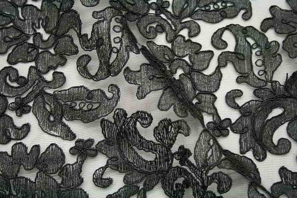 LACE FABRIC AVE / BLACK / 100% Polyester