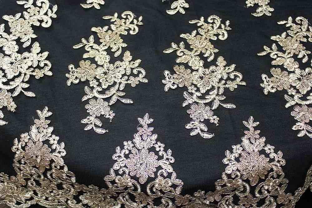 ASHLEY / GOLD/BLACK / 100% Polyester