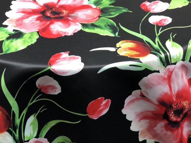 TROPICAL / ROSE/BLACK / 100% Polyester