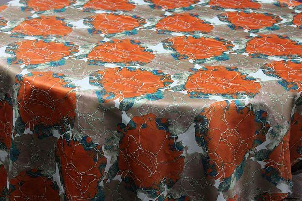 "AZALEA / ORANGE / 100% Polyester 54"""